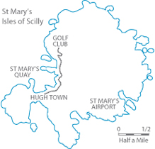 St Mary's map, St Mary's Isles of Scilly map, Isles of Scilly map, Hugh Town map
