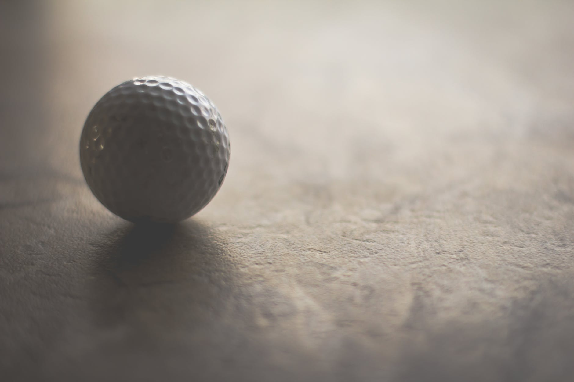 Golf ball image, golf ball on surface